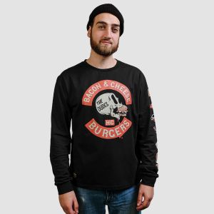 Dudes Men's Tee l/s BACON CHEESE BURGERS (1002614-FW20)
