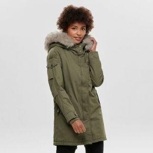 ONLY Women's Jacket onlMAY FUR CANVAS PARKA CC OTW (15180345)
