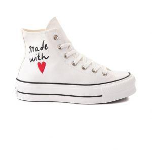 Converse Women's Shoes LOVE THREAD PLATFORM HIGH TOP (571119C)