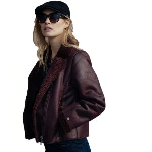 Petrol Women's Jacket Faux Leather (W-3090-JAC027)