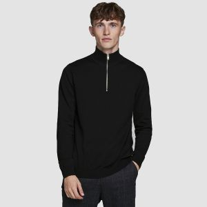 Jack & Jones Men's High Neck Zip Pullover JPRBLACAMP (12180066)