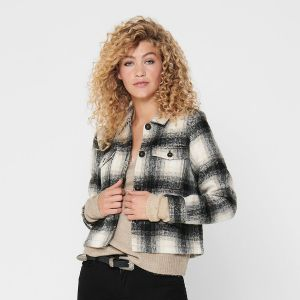 Only Women's Jacket ONLLOU SHORT CHECK JACKET (15208838)