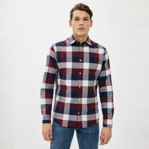Jack & Jones Men's Shirt L/S JJEPLAIN CHECK SHIRT (12173030)