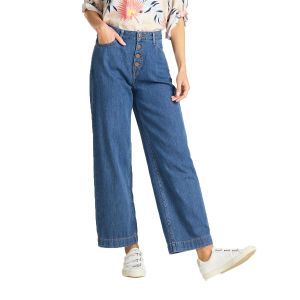 Lee Women's Jeans BUTTON THRU WIDE LEG (L30GRCND)