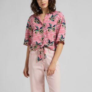 Lee Women's Shirt ss KNOTTED RESORT SHIRT (L49XZLQJ)